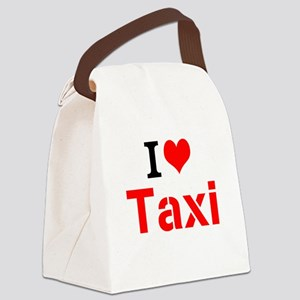 I Love Taxi Canvas Lunch Bag