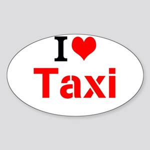 I Love Taxi Sticker