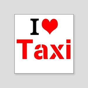 I Love Taxi Sticker