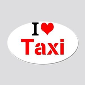 I Love Taxi Wall Decal