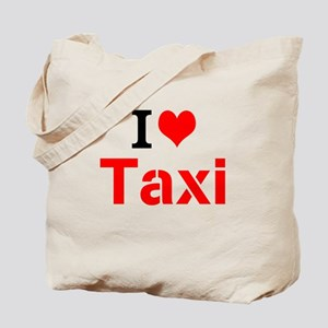I Love Taxi Tote Bag
