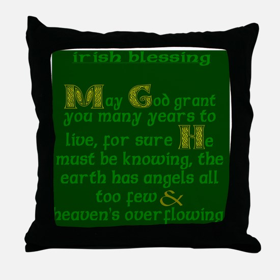 Green Angels Overflowing Throw Pillow