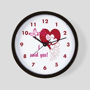 I Said Yes Wall Clock