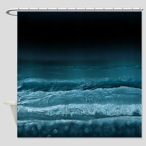 Night Ocean Waves Shower Curtain