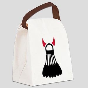 Badminton devil Canvas Lunch Bag
