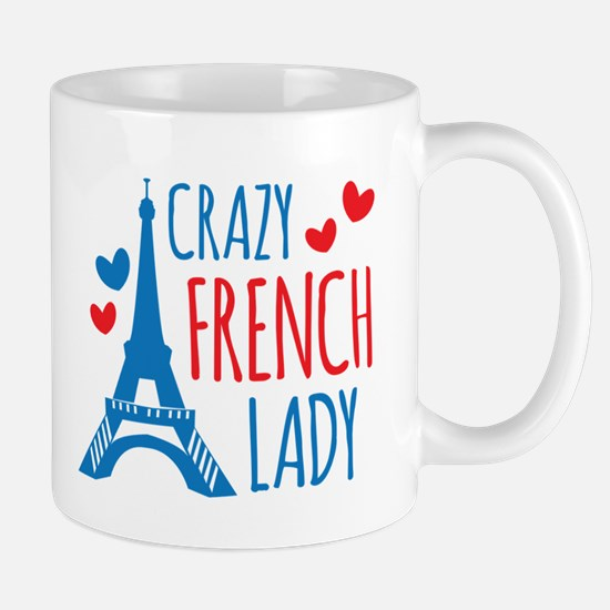 Crazy French Lady Mugs