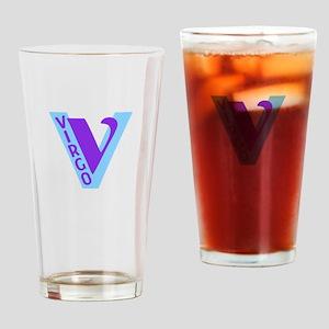 Virgo-Letter Astro Sign Drinking Glass