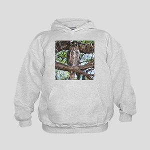 Great Horned Owl Kids Hoodie