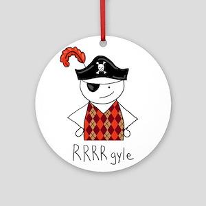 RRRR-gyle Pirate Ornament (Round)
