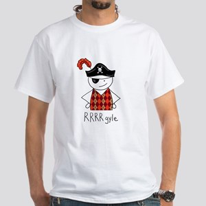 RRRR-gyle Pirate White T-Shirt
