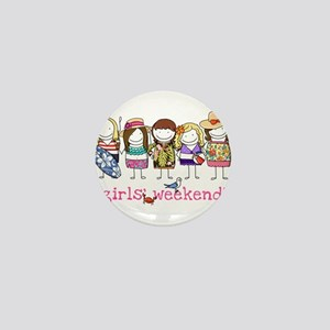 Girls' Weekend Mini Button