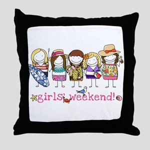 Girls' Weekend Throw Pillow