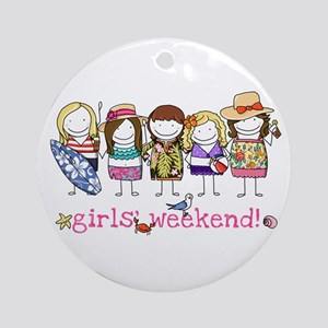 Girls' Weekend Ornament (Round)