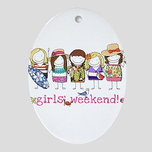 Girls' Weekend Ornament (Oval)