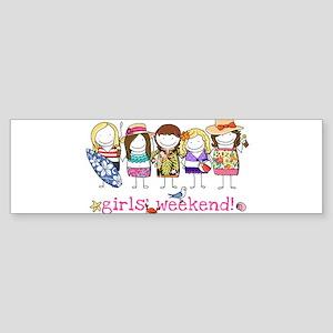 Girls' Weekend Sticker (Bumper)