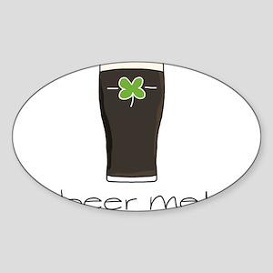 Beer Me Sticker (Oval)