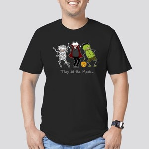 Monster Mash - Halloween Men's Fitted T-Shirt (dar