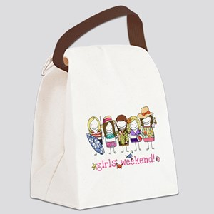 Girls Weekend Pink Canvas Lunch Bag