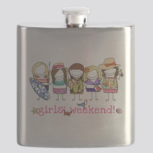 Girls Weekend Pink Flask