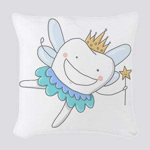 Tooth Fairy Woven Throw Pillow