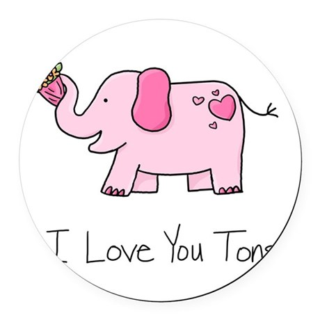 I Love You Tons Round Car Magnet