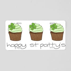 StPats cupcake2 Aluminum License Plate