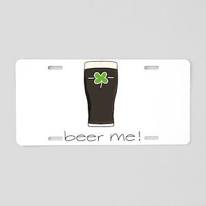 Beer Me Aluminum License Plate