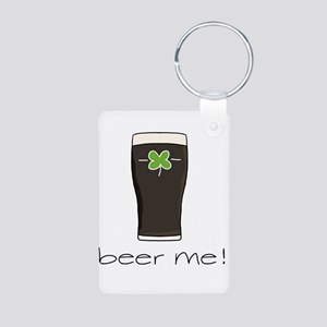 Beer Me Aluminum Photo Keychain
