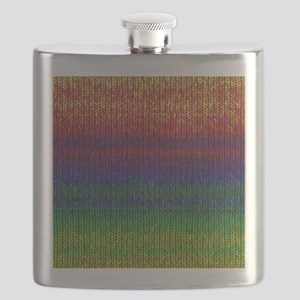 Rainbow Knit Photo Flask
