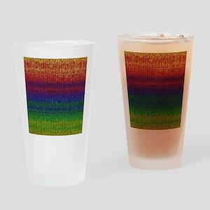Rainbow Knit Photo Drinking Glass