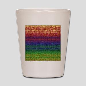 Rainbow Knit Photo Shot Glass