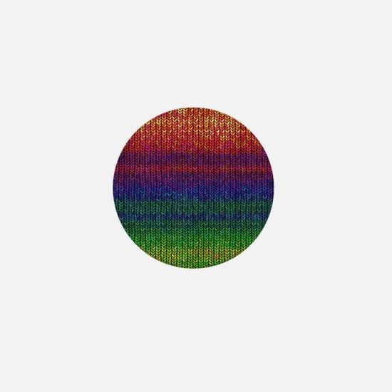 Rainbow Knit Photo Mini Button