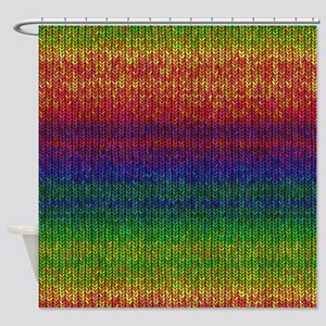 Rainbow Knit Photo Shower Curtain