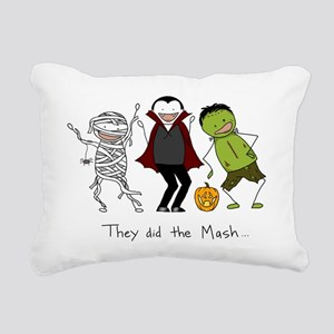 They did the Mash Rectangular Canvas Pillow