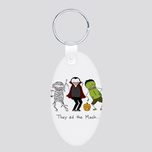 They did the Mash Aluminum Oval Keychain
