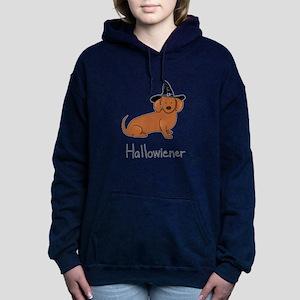 Halloween Wiener Dog Women's Hooded Sweatshirt