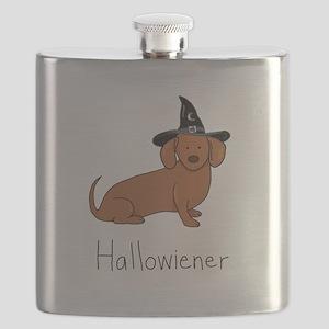 Halloween Wiener Dog Flask
