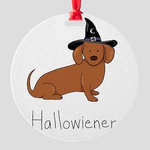 Halloween Wiener Dog Round Ornament