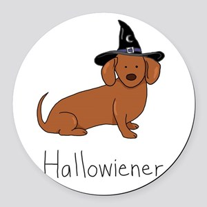 Halloween Wiener Dog Round Car Magnet