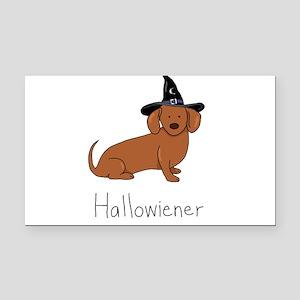 Halloween Wiener Dog Rectangle Car Magnet