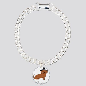 Halloween Wiener Dog Charm Bracelet, One Charm