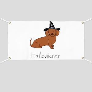 Halloween Wiener Dog Banner