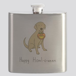 Howl-o-ween Dog Flask