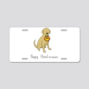 Howl-o-ween Dog Aluminum License Plate