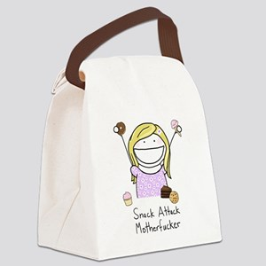 Snack Attack Canvas Lunch Bag