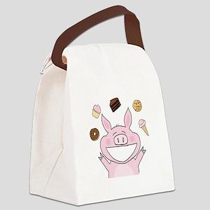 Dessert Pig Canvas Lunch Bag