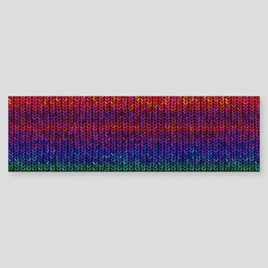Rainbow Knit Photo Sticker (Bumper)