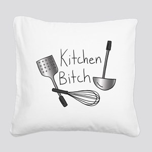 Kitchen Bitch Square Canvas Pillow