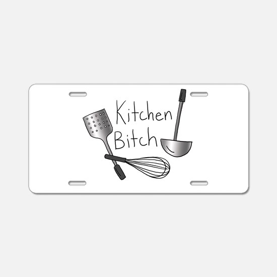 Kitchen Bitch Aluminum License Plate