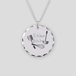 Kitchen Bitch Necklace Circle Charm